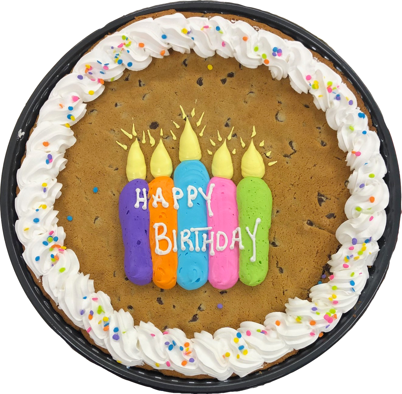 Awesome Jumbo 12 Chocolate Chip Cookie Cake Birthday Candles Berkots Personalised Birthday Cards Veneteletsinfo